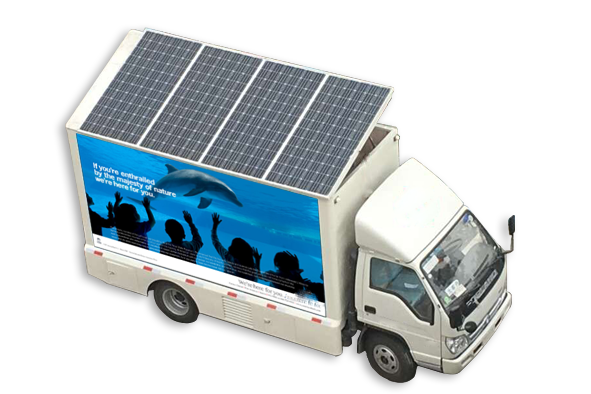 Solar advertising car